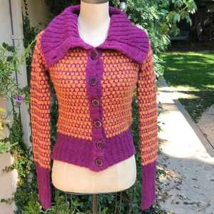 Free People nubby honeycomb cardigan sweater